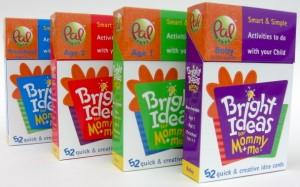 """Our original """"Bright Ideas for Mommy + Me"""" decks."""